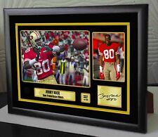 """Jerry rice san francisco 49ers framed canvas portrait signé """"beau cadeau"""""""