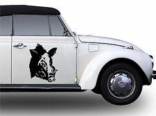 2x Cinghiale Adesivo Vignetta Di Cinghiale-cinghiale Auto Scelta Colore 40cm