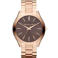 Michael Kors Slim Runway MK3181 Rose Gold Tone Unisex Wrist Watch