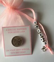 PERSONALISED LUCKY SIXPENCE  Birthday Gift, Girl, 1st 16th 18th 21st 30th 40 50