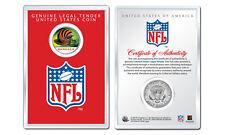 CINCINNATI BENGALS NFL Helmet JFK Half Dollar Coin w/ NFL Display Case LICENSED