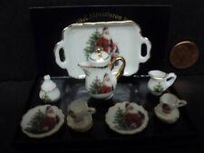DOLLHOUSE CHRISTMAS TEA SET