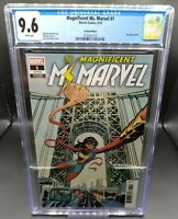 Magnificent Ms. Marvel #1 CGC 9.6 1:50 Charretier Variant Kamala Khan Disney MCU