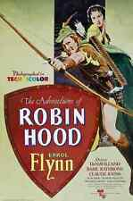 Film Adventures Of Robin Hood The 01 A3 Box Canvas Print