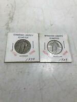 1930 + 1927 Standing Liberty Silver Washington Quarters