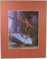 ALAN M. CLARK SIGNED Print Ltd Ed 50/250 HORROR CEMETARY DANCE 1987