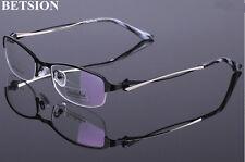 Fashion Women Black Gold Eyeglass Frames Half Rim Metal myopia Glasses Eyewear