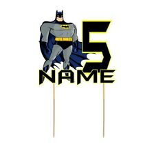 Batman Cake Topper Personalised Kids Party Decoration Image Cut Card