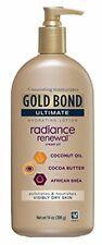 Gold Bond Ultimate Hydrating Lotion Radiance Renewal Cream Oil 14 Oz Pump