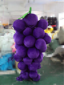 Purple Grape Mascot Costume Cosplay Party Fruit Character Fancy Dress Adult Suit