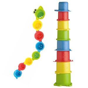 Playgro Stapelbecher Krokodil (8 Stück) - fördert die motorische Entwicklung NEU