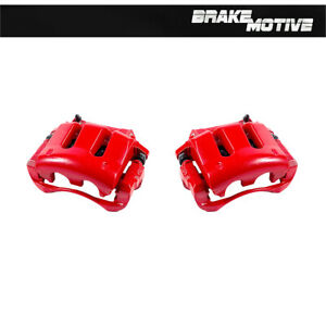 Front Red Coated Brake Calipers For 2005 - 2010 V6 FORD MUSTANG