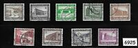 #6925   Complete 9 stamp set 1936 Winter relief fund Germany ScB93-B101