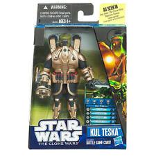 Star Wars The Clone Wars Video Game Figurine - Kul Teska NIP