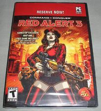 Command & Conquer: Red Alert 3 Pre-Order Bonus Disc Promo PC DVD+Map+More - NEW!