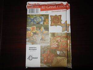 SIMPLICITY SEWING PATTERN 5538 DECORATIVE PILLOWS MANY STYLES
