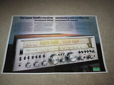 Sansui G-9000 Receiver Ad, 1978, Articles, Specs, 2 pages, Beautiful!
