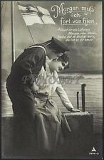 AK Postcard 1915 Army Soldiers Sailor Matrose Meer Ships Post Feldpost WWI (30)