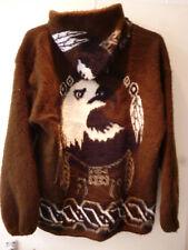 Hooded Zipped Coat Jacket Large Hand Made In Ecuador Genesis Handicrafts