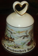 ROYAL DOULTON CHRISTMAS BELL PORCELAIN TO GRANDMOTHER'S HOUSE WE GO BONE CHINA