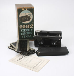 GOERZ STEREO TENAX, 60/6.8 SYNTOR LENSES BOXED OUTFIT/cks/188781