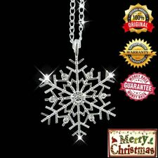 Christmas Crystal Snowflake Silver Charm Chain Necklace Pendant Jewelry Gift Hot