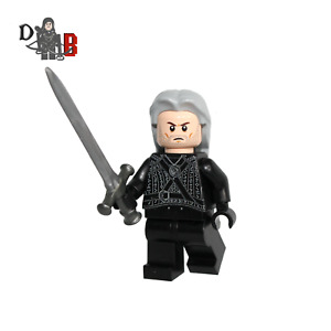 The Witcher Geralt of Rivia Minifigure. Henry Cavill Made using LEGO parts.