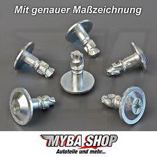 5x set moteur protection dispositifs de protection arrière Métal Clips BMW Klip NEUF