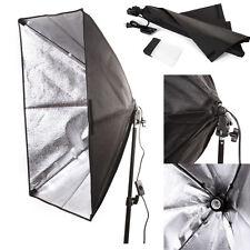 50x70cm Studio Light Softbox Umbrella + E27 Socket Light Lamp Bulb Head Lighting