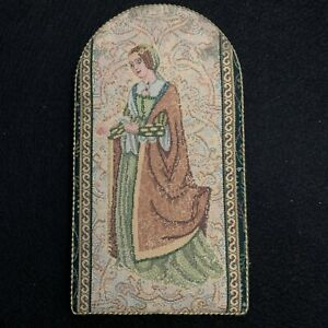 Vintage Traditional Tapestries Canterbury Cathedral Medieval Noble Lady Plaque