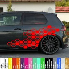4x GTI Wabenmuster Autoaufkleber Sticker Set Tuning Folie car decal Shocker