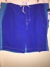 CHAPS Men's Colorblock Board Shorts HERITAGE BLUE Size XXL Swim Beach Pool NWT