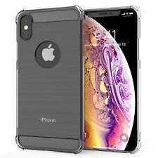 Phone Case Caseflex iPhone X / Xs Carbon Fibre TPU Cover Silicone - Clear