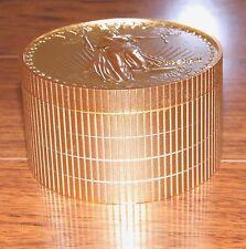 Working Bulova 20 Twenty Dollar Gold Coin Stack Quartz Desk Alarm Clock (MCMVII)