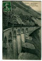 CPA 38 Isère Ligne de La Mure Le train électrique sur le Viaduc de Loulla