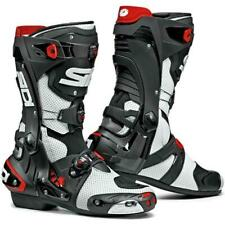 SIDI Rex Air Motorcycle Racing Boots-White Black Size 11