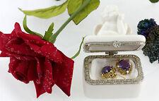Ohrringe ear rings Ohr clips Klips Amethyst Brillant Gold 585 brilliant diamond