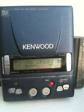Kenwood DMC-E7R MiniDisc Recorder Player portable minidisc MD with Battery