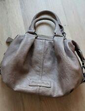 Handtasche Fritzi aus Preußen - neuwertig - taupe - Leder