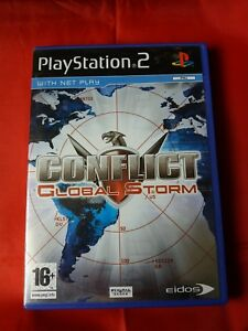 CONFLICT GLOBAL STORM ORIGINAL BLACK LABEL SONY PLAYSTATION 2 WITH BOOKLET