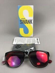 TIFOSI Swank 15009878 Sunglasses, CRIMSON / ONYX Red Mirrored Lens, Cat. 3 - NEW