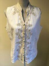 Linen Button Casual Plus Size Waistcoats for Women