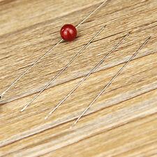 30X Beading Needles Threading Cord Tool DIY Jewelry Stainless Steel 0.6*120mm JP
