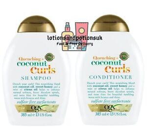 OGX QUENCHING + COCONUT CURLS Shampoo AND Conditioner 385ML