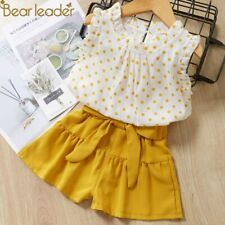 Summer Girls Clothes Sets Children's Clothing Kids Fashion Shirt And Shorts NEW