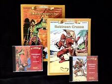 Reading Comprehension Book & CD Sets: Robinson Crusoe & Kidnapped, Level 3