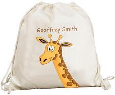 Personalizzato-Testa di Giraffa Carino-naturale (crema) Cotone Zaino/Zaino