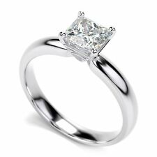 2.00CT Princess-Cut Diamond Solitaire Engagement Ring 10k white Gold