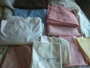 Sheets and cases bundle double flat x4 plus 1 single fitted