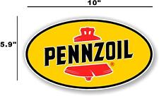 """(PENN-2) 10"""" PENNZOIL OIL LUBSTER front DECAL GAS PUMP SIGN GASOLINE"""
